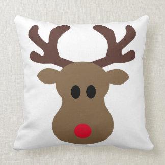 Silly Rudolph Reindeer Christmas pillow Throw Cushion