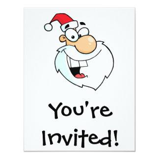 silly santa cartoon 11 cm x 14 cm invitation card
