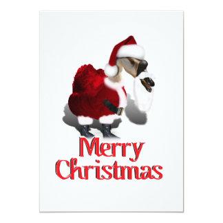 Silly Santa Goose - A Web Footed Christmas 13 Cm X 18 Cm Invitation Card