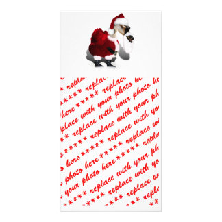 Silly Santa Goose - A Web Footed Christmas Photo Cards