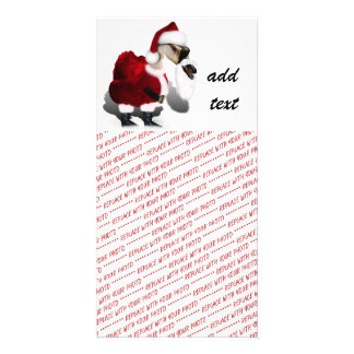 Silly Santa Goose - A Web Footed Christmas Picture Card