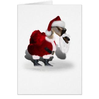 Silly Santa Goose Card
