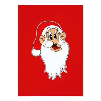 Silly Santa 13 Cm X 18 Cm Invitation Card