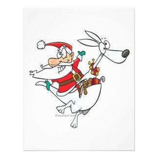 silly santa on a kangaroo funny cartoon custom invitation