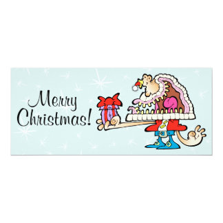 Silly Santa Signature Card 10 Cm X 24 Cm Invitation Card