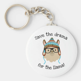 Silly Save The Drama For The Llama Keychain