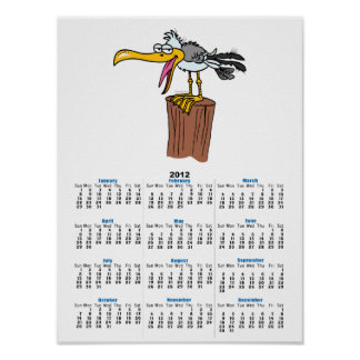 silly seagull cartoon poster