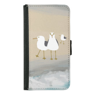 Silly Seagulls Galaxy S5 Wallet Case
