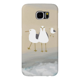 Silly Seagulls Galaxy S6, Barely There Phone Case