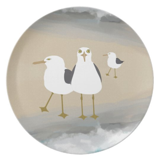 Silly Seagulls Plate
