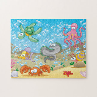 "Silly Sealife Puzzle, 11"" x 14"", 252 pieces Jigsaw Puzzle"