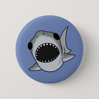 Silly Shark 6 Cm Round Badge