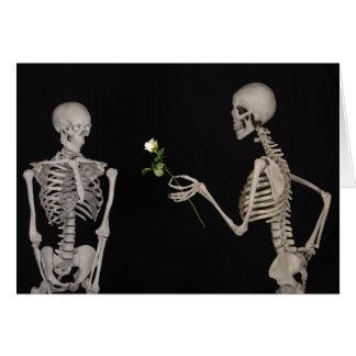 Silly Skeleton Odd Funny Valentine's Day Card