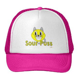Silly Smiling Lemon Cat Costume Sour Puss Trucker Hat