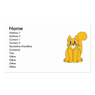 Silly Smiling Orange Cat Business Card Template