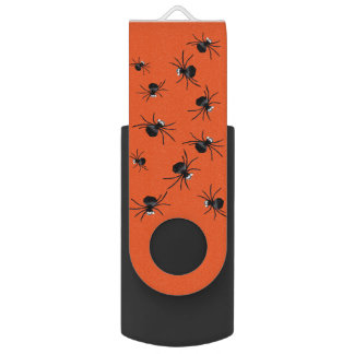 Silly Spiders Swivel USB 2.0 Flash Drive