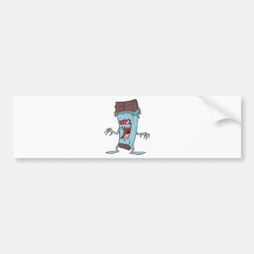silly super villian evil chocolate candy bar bumper stickers