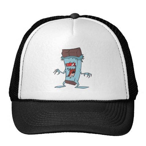 silly super villian evil chocolate candy bar hats