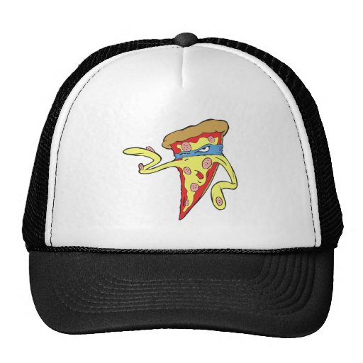 silly superhero villian pepperoni pizza character hats