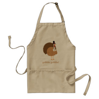 Silly Turkey Pilgrim Gobble Gobble! Standard Apron