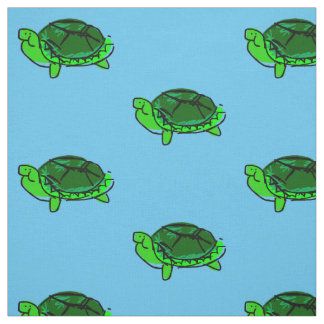 Silly Turtle Doodle Fabric