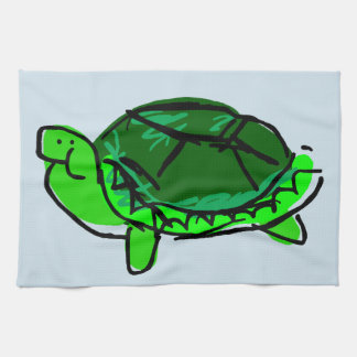 Silly Turtle Doodle Kitchen Towel