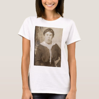 Silly Victorian Era Photo Woman Funny Face T-Shirt