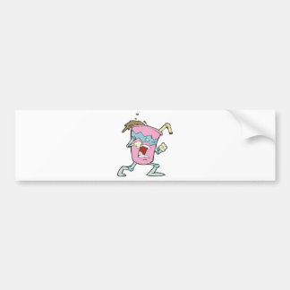 silly villian evil milkshake character bumper sticker