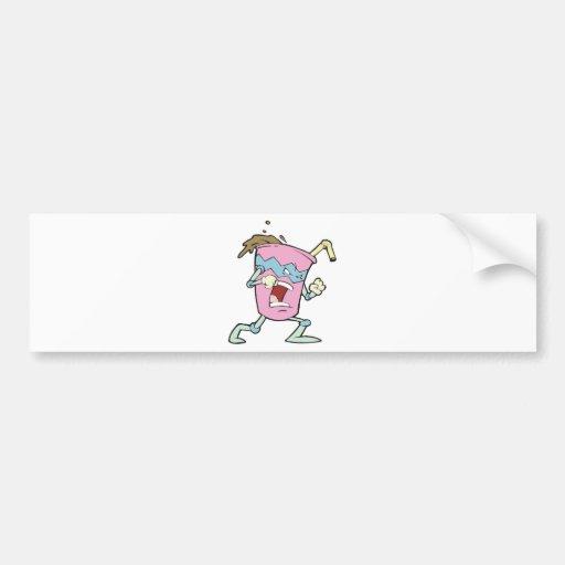 silly villian evil milkshake character bumper stickers