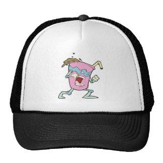 silly villian evil milkshake character mesh hats