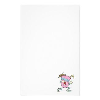 silly villian evil milkshake character stationery paper
