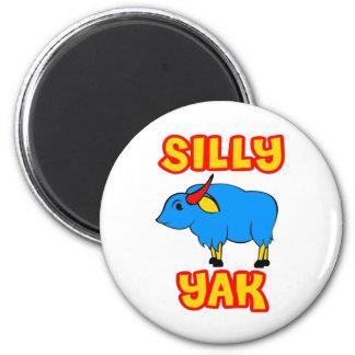 Silly Yak 6 Cm Round Magnet