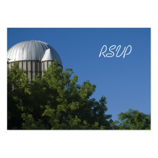 Silo and Blue Sky Country Wedding Response Card Business Cards