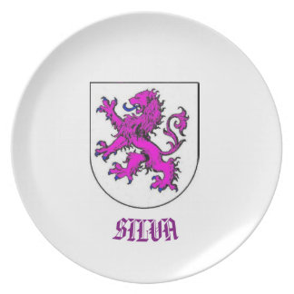 Silva Family Coat of Arms CustomPlate Plates