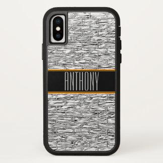 Silve Grey Bricks Monogram Phone Case