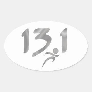 Silver 13.1 half-marathon sticker
