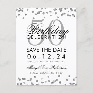 50th birthday save the date cards zazzle au