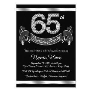 Womans 65th Birthday Invitations