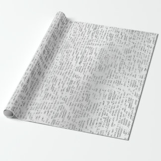 Silver Abstract Forms Geometry Metallic Pearly Wrapping Paper