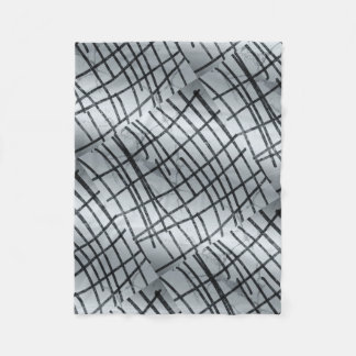 Silver Abstract Lines Fleece Blanket