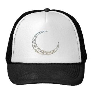 Silver And Black Celtic Crescent Moon Cap