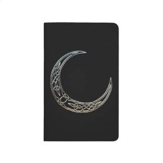 Silver And Black Celtic Crescent Moon Journal