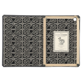 Silver And Black Connected Ovals Celtic Pattern Cover For iPad Air