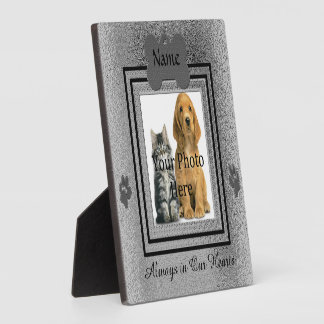 Silver and Black Custom Pet Memorial Plaque