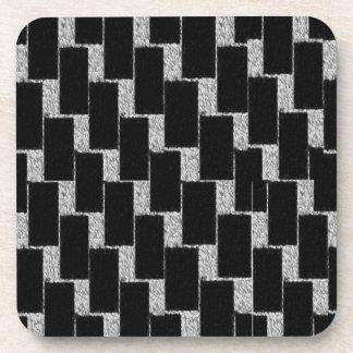 Silver and Black Illusion Coaster