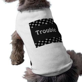 Silver and Black Illusion Sleeveless Dog Shirt