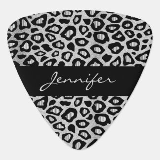 Silver And Black Leopard Pattern Plectrum