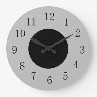 Silver and Black Lowpriced Kitchen Wall Clock