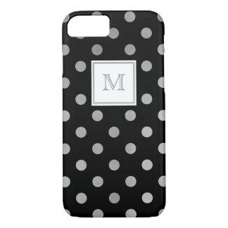 Silver and black Polka Dot Phone case