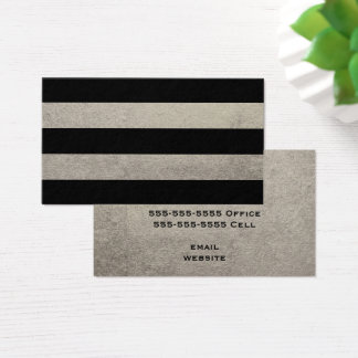 Silver and Black Stripe Business Card